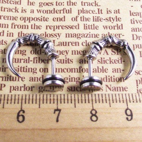 "316 Stainless Steel ""Hawk Claw"" Earrings - Blown Biker - 2"