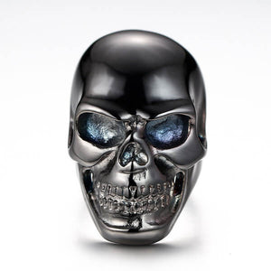 "316L Stainless Steel ""Black Skull"" Ring"