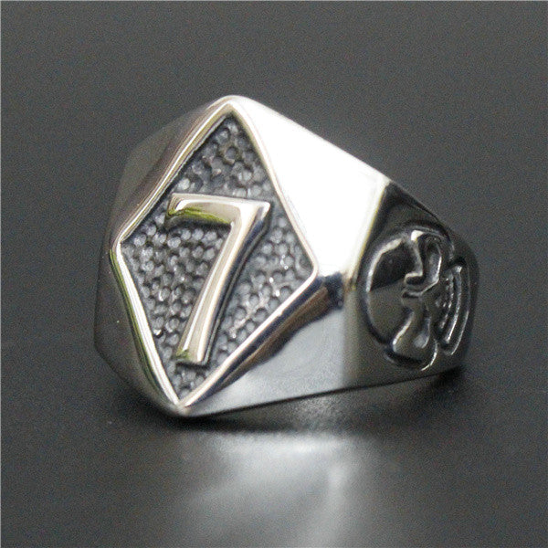 "316L Stainless Steel ""Number 7"" Ring"