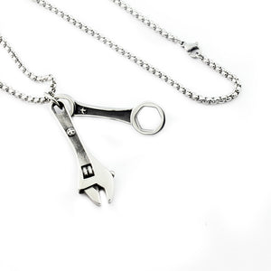 "316L Stainless Steel ""Real Tools"" Necklace - Blown Biker - 5"