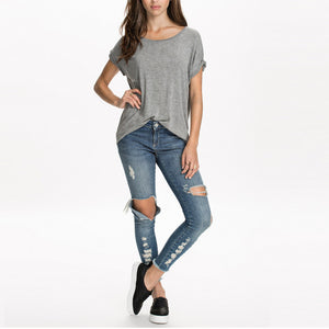 "Printed ""Angel Wings"" T-Shirt - Blown Biker - 2"