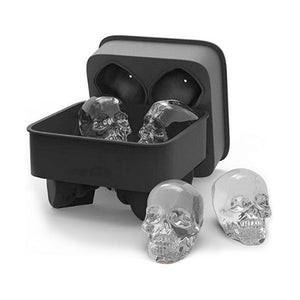 "Silicone ""Skull Heads"" Ice Cube Tray - Blown Biker - 1"