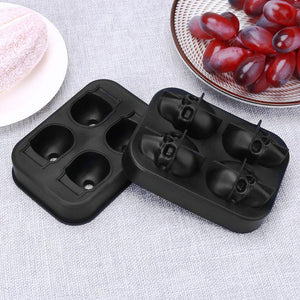 "Silicone ""Skull Heads"" Ice Cube Tray - Blown Biker - 4"