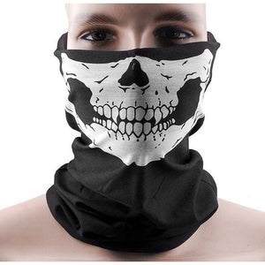 """Skull Rider"" Motorcycle Half-Face Mask - Blown Biker - 1"