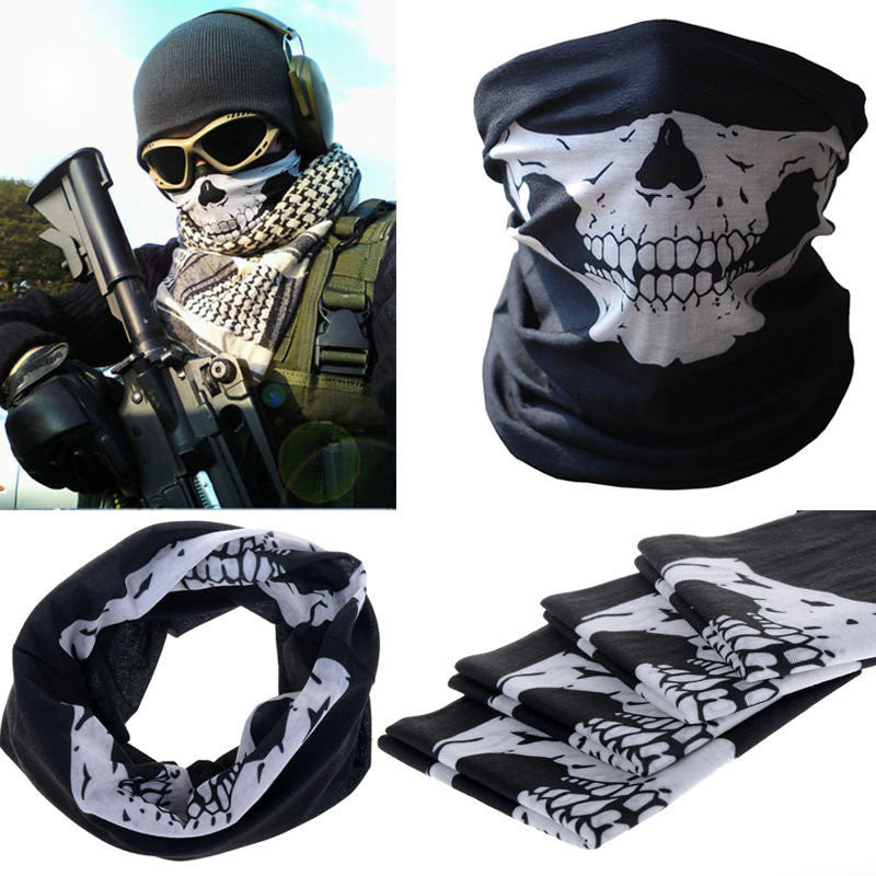 """Skull Rider"" Motorcycle Half-Face Mask - Blown Biker - 2"