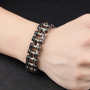 "316L Stainless Steel ""Black Gold"" Bracelet - Blown Biker - 3"