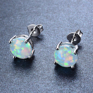 "925 Sterling Silver ""Opal Claws"" Earrings"