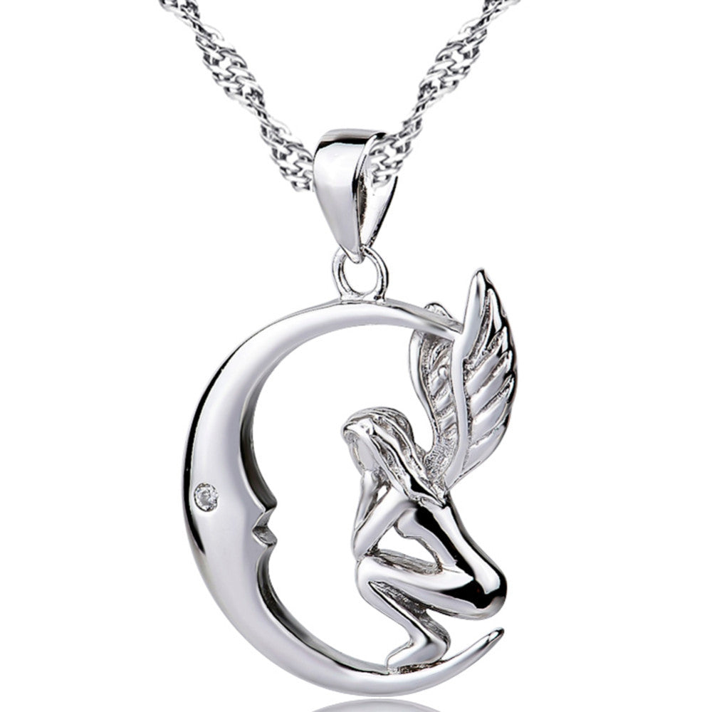 product selucci necklace pendant wings angel arzo