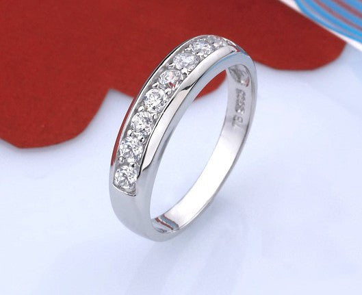 "925 Sterling Silver ""Cubic"" Womens Ring"