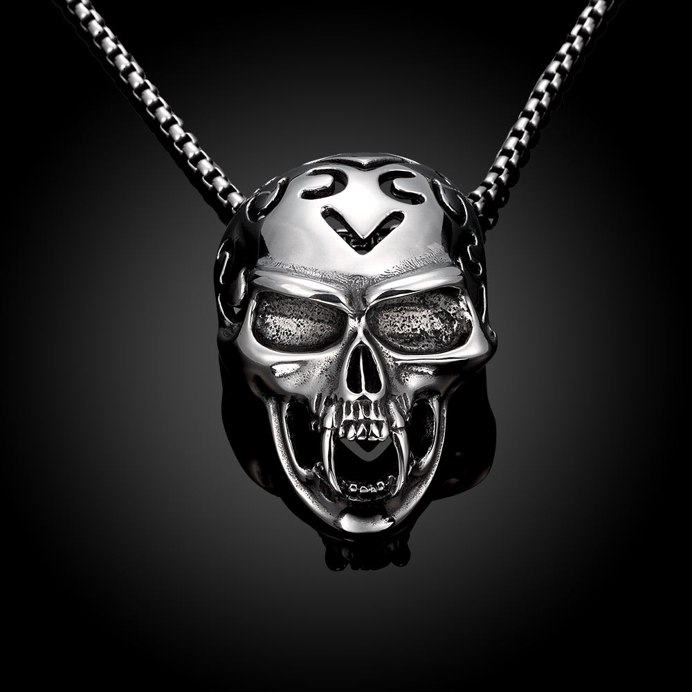 925 sterling silver pure skull pendant necklace blown biker 925 sterling silver pure skull pendant necklace blown biker 3 mozeypictures Image collections