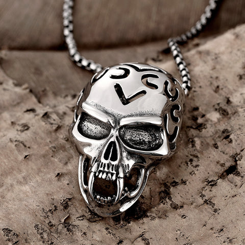 925 sterling silver blown biker 925 sterling silver pure skull pendant necklace blown mozeypictures Image collections