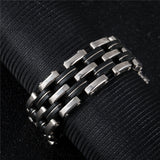 "316L Stainless Steel & Silicone ""Quad"" Biker Bracelet - Blown Biker - 2"