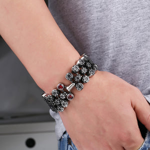 "316L Stainless Steel ""Full Star"" Bracelet - Blown Biker - 3"