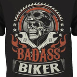 Bad Ass Biker T-Shirt - Blown Biker - 1