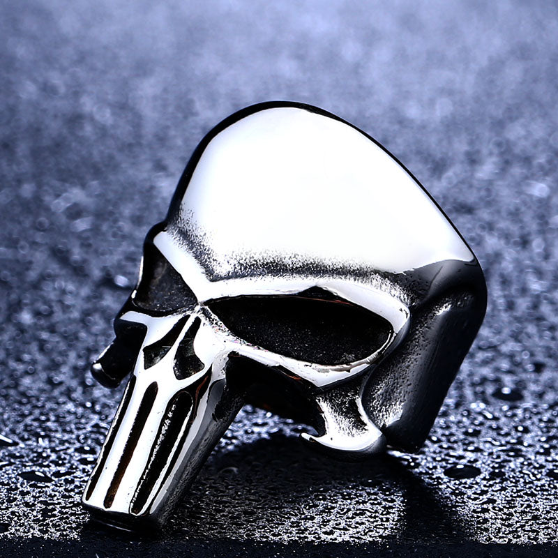 "316L Stainless Steel ""The Punisher"" Ring - Blown Biker - 5"