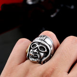 "316L Stainless Steel ""Route 66 Biker"" Ring - Blown Biker - 2"