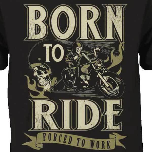 Born To Ride T-Shirt - Blown Biker - 1