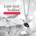 "925 Sterling Silver ""Little Bird"" Luxury Hummingbird Pendant Necklace - Blown Biker - 3"
