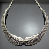 "Angel Wings ""Feather Choker"" Necklace - Blown Biker - 3"