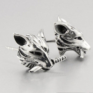 "316L Stainless Steel ""Fox Stud"" Earrings"