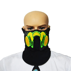 Glow In The Dark Flashing Motorcycle Face Mask - Blown Biker - 5