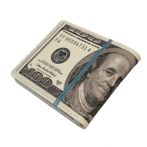 """100 Dollar Bill"" Bifold Wallet (New Style) - Blown Biker - 4"