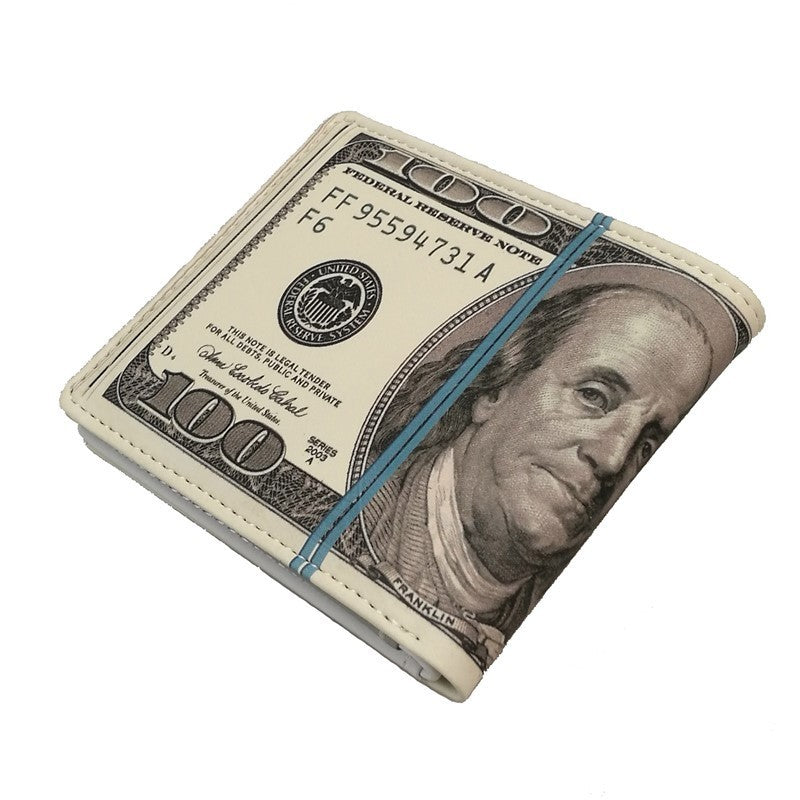 """100 Dollar Bill"" Bifold Wallet (New Style) - Blown Biker - 2"