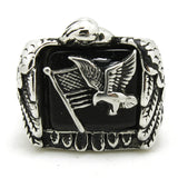 "316L Stainless Steel ""American Eagle Flag"" Ring"