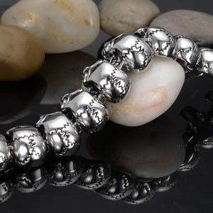 "316L Stainless Steel ""Full Of Skulls"" Bracelet"