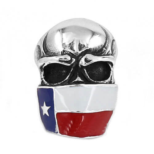 "316L Stainless Steel ""Gagged Skull"" Ring"