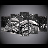 "5 Piece ""Harley Davidson"" Printed Wall Canvas Set - Blown Biker - 6"