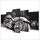"5 Piece ""Harley Davidson"" Printed Wall Canvas Set - Blown Biker - 3"