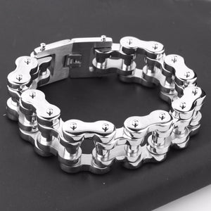 "316L Stainless Steel ""Polished Chain"" Bracelet - Blown Biker - 2"