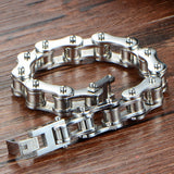 "316L Stainless Steel ""Polished Chain"" Bracelet - Blown Biker - 3"