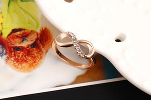 "Rose Gold Plated ""Infinity Crystals"" Ring - Blown Biker - 3"
