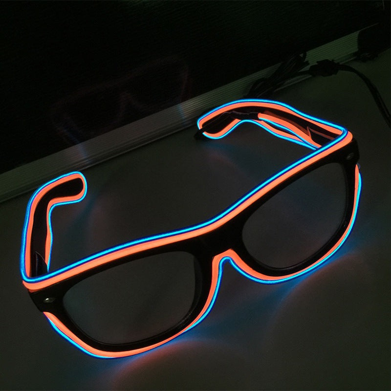 Luminous LED Party Glasses - Blown Biker - 6