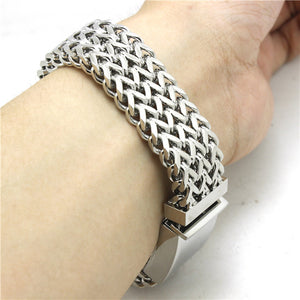 "316L Stainless Steel ""Thick Mesh"" Bracelet - Blown Biker - 2"
