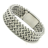 "316L Stainless Steel ""Thick Mesh"" Bracelet - Blown Biker - 1"