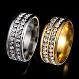 "316L Stainless Steel ""Double Row"" Ring"