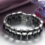 "316L Stainless Steel & Silicone ""Chunky"" Bracelet - Blown Biker - 2"