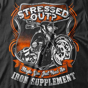 Iron Supplement T-Shirt (Back Print) - Blown Biker - 1