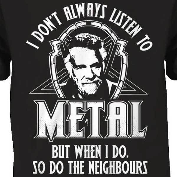 I Don't Always Listen To Metal Hoody - Blown Biker - 2