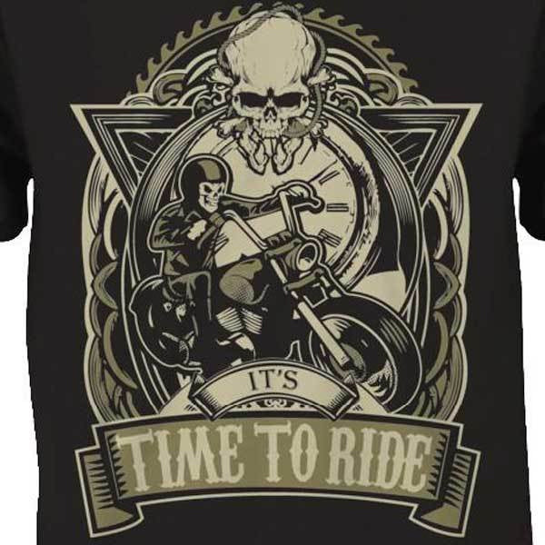 It's Time To Ride T-Shirt - Blown Biker - 1