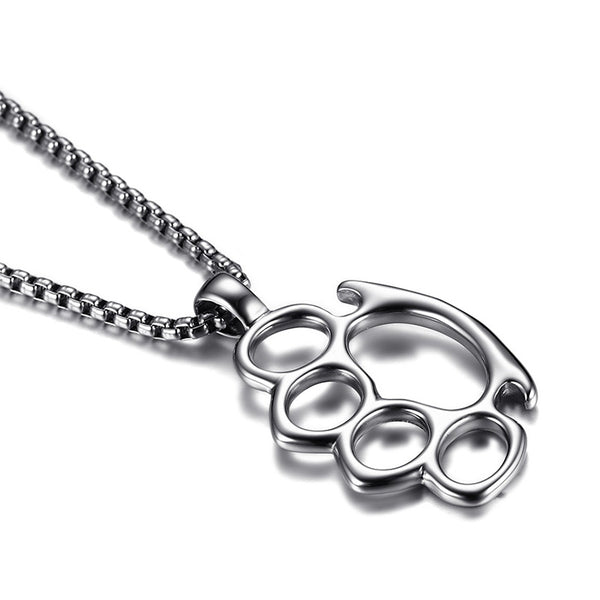 316l stainless steel knuckle duster pendant necklace blown biker 316l stainless steel knuckle duster pendant necklace blown mozeypictures Choice Image