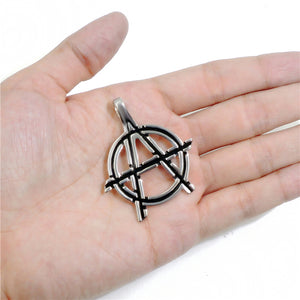 "316L Stainless Steel ""Anarchy"" Pendant Necklace - Blown Biker - 3"