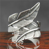 "316L Stainless Steel ""Feather"" Ring - Blown Biker - 1"