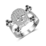 "925 Sterling Silver ""Skull & Crossbones"" Ring - Blown Biker - 1"