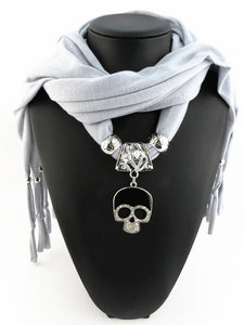 Skull Pendant Scarf (16 colors available!)