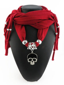 Skull Pendant Scarf (16 colors available!) - Blown Biker - 1
