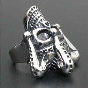 "316L Stainless Steel ""Joker Skull"" Ring"